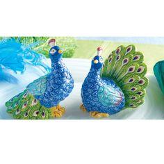 Peacock Salt & Pepper Shakers
