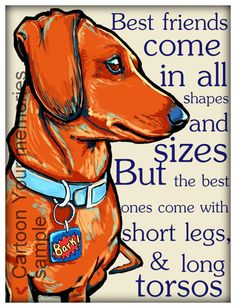 Best friend come in all shapes and sizes by cartoonyourmemories, $10.00