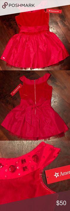 American Girl Joyful Jewels Dress ❤ Beautiful and fun red party dress!! NWT❤ American Girl  Dresses Formal