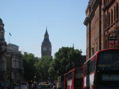 Big Ben among the buses
