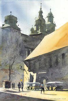 by Tytus Brozowski, Polish (from Warsaw) architect and watercolorist