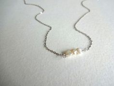 Oxidized Sterling Silver and Freshwater Pearl by KalosandCo, $22.00