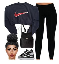 A fashion look from February 2016 featuring navy blue top, legging pants and grip shoes. Browse and shop related looks. Cute Swag Outfits, Chill Outfits, Dope Outfits, Stylish Outfits, New Fashion Clothes, Teen Fashion Outfits, Outfits For Teens, Complete Outfits, Online Shopping Clothes