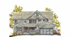 Traditional House Plan with 2638 Square Feet and 4 Bedrooms(s) from Dream Home Source | House Plan Code DHSW17632