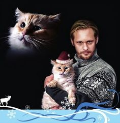 Alexander Skarsgård and his cat. - Imgur hahahhaha I love him even more now!!!!