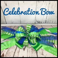 Celebration Bows for all occasions! New Car, New Baby, New Home, Birthdays, just to name a few ideas!  www.heavenlytreats4U.com Hanukkah, Bowser, New Baby Products, Celebration, Birthdays, New Homes, Wreaths, Car, Gifts
