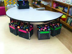 This is an awesome desk that can be used in the media center