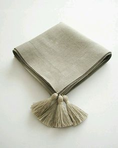 Items similar to Linen tablecloth- square -with decorative tassels -classic border -table serving on Etsy Linen Tablecloth, Linen Napkins, Table Linens, Tablecloths, Safari Wedding, Napkin Folding, Passementerie, Linens And Lace, Cocktail Napkins