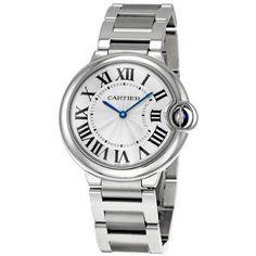 cdcc21f027e Cartier Midsize W69011Z4 Ballon Bleu Stainless Steel Watch  Watches   Amazon.com Cartier Ballon