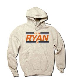Nolan Ryan Officially Licensed Baseball Hall of Fame Houston Hoodie S-3XL Nolan Ryan Striped Font O