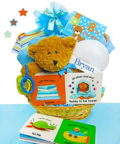 B Is For Boy Personalized Gift Basket (#BBC302)