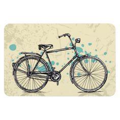 Imán del dibujo de la bicicleta del vintage