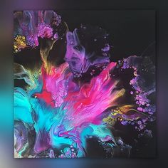 Acrylic Pouring Techniques, Acrylic Pouring Art, Acrylic Art, Painting Techniques, Flow Painting, Pour Painting, Black Canvas Paintings, Making Resin Jewellery, Canvas Crafts