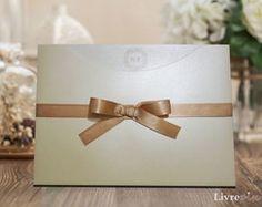 Convite de Casamento Classico Perolado
