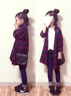 GLOBAL WORKのワンピース「【キッズ】フランネルシャツワンピース/727257」を使ったcyamu(͒⑅′࿉‵⑅)͒ෆ*のコーディネートです。WEARはモデル・俳優・ショップスタッフなどの着こなしをチェックできるファッションコーディネートサイトです。 Tween Fashion, Little Girl Fashion, Toddler Fashion, Cute Fashion, Fashion Outfits, Baby Couture, Cute Outfits For Kids, Stylish Kids, Kid Styles
