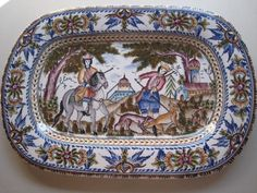 Bandeja para quesos de ceramica portuguesa ovalada