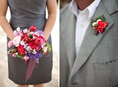 LOVE this bridesmaid/groomsman combo