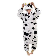 Introducing Janecrafts New Kigurumi Pajamas Anime Cosplay Costume Unisex Adult Onesie Dress M Cow. Get Your Ladies Products Here and follow us for more updates!