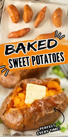 Learn how to bake sweet potatoes in the oven perfectly every time. Enjoy delicious sweet potatoes for an inexpensive and easy side dish. Baked sweet potatoes make a perfect and healthy side dish. #eatingonadime #howtobakesweetpotatoes #howtocook #healthyrecipes #InOvenSimple #HowLongDoyou #oveneasy #HowLongto #Thanksgiving #OvenHealthy #Withoutfoil #howto #oven Best Baked Sweet Potato, Sweet Potato Oven, Making Sweet Potato Fries, Sweet Potato Casserole, Sweet Potato Recipes, Best Side Dishes, Healthy Side Dishes, Veggie Dishes, Cooking Recipes