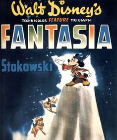 "Here's the first ever ""Fantasia"" movie poster from 1940."