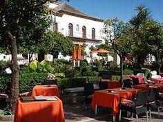Orange square, Marbella old town