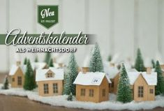 Ein kleines Winterdorf als Adventskalender. Die Anleitung mit Vorlage findet Ihr hier: www.deko-kitchen.de