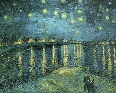 post impressionist art | ... The Rhone - Post Impressionist Vincent Van Gogh Art Wallpaper Picture