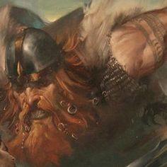 Damásen-Gigante anti-Marte.Com mais de cinco metros de comprimento, Damásen tem a metade superior de seu corpo humanóide e a inferior escamosa e reptiliana. Veste uma túnica feita com peles de carneiro e retalhos de couro. Sua pele é vermelho-cereja e a barba e o cabelo são ruivos e compridos, entrelaçados e decorados por folhas e flores do pântano. Por ser um oposto do deus da guerra, Damásen é pacífico e sabe curar venenos.