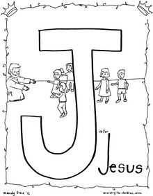 """""""J is for Jesus"""" coloring page"""