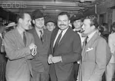 Writer Ernest Hemingway with Friends.