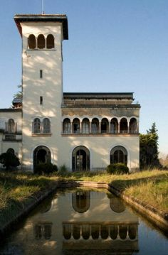 Abandoned Chateau Located in Labastide-Villefranche near the Pyrenees mountains