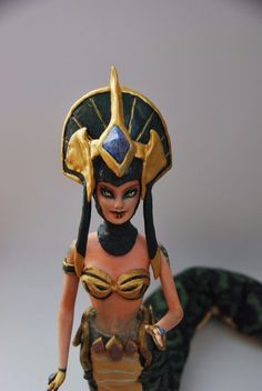 Handmade custom OOAK League of Legends action figure champion doll Cassiopeia #LushaDesigns #OOAK #dollcustom #barbierepaint