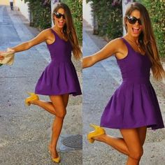 How to Chic: PURPLE SKATER DRESS