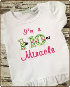 Embroidered Miracle Shirt  Custom Embroidered Tshirt  by KuggaKIDS, $20.00