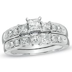 Three beautiful stones, two beautiful rings.