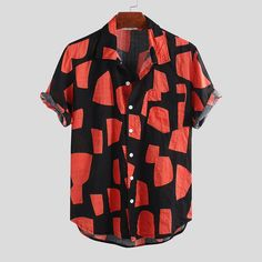 Shirt Logo Design, Shirt Designs, Casual T Shirts, Men Casual, Mens Printed Shirts, Half Shirts, Well Dressed Men, Summer Shirts, Swagg