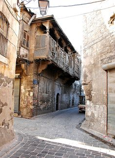 Aleppo - Old City Siria. Syria Before And After, Aleppo City, Arch Street, Baghdad Iraq, Old Egypt, Bagdad, Old Street, Islamic Architecture, City Photography