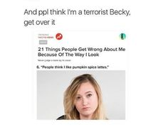 People think I'm a taco gangsta Becky