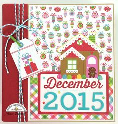 Premade Christmas December Daily Scrapbook Album by ArtsyAlbums