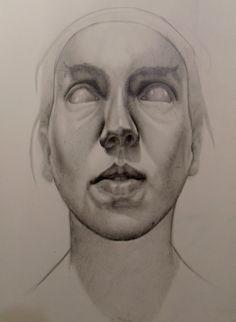 Retrato de una ceguera 30 x 20 cm grafito 2014