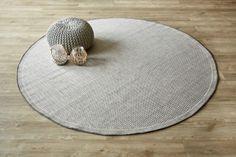 Super Natural Circle Grey: Water-resistant, durable poly-propylene woven flatweave (2.3m diameter). Add tex...