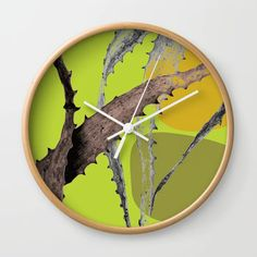Cactus leaf Abstract Green Wall Clock by amandadhay Cactus Leaves, Green Wall Clocks, Buy Cactus, Abstract, Store, Artist, Artwork, Summary, Work Of Art