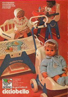Pubblicità Advertising 1978 SEBINO CICCIOBELLO cicciopappa ciccioservice Christmas Catalogs, Vintage Italian, Vintage Dolls, Nostalgia, Educational Toys, Vintage Posters, Coca Cola, Baby Dolls, Projects To Try