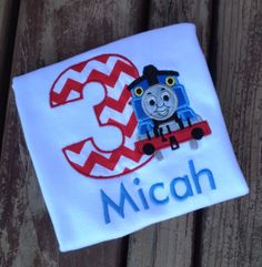 Personalized Thomas the train birthday by MooseandHippodesigns, $22.00