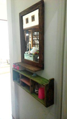 Reclame Frame miror teak wood