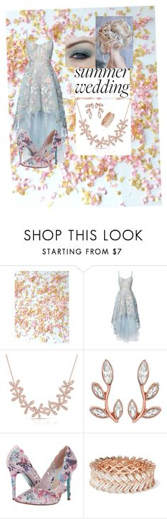 """""""SummerWedding by     ForeverIndia"""" by foreverindia ❤ liked on Polyvore featuring Notte by Marchesa, Betsey Johnson, Anita Ko and summerwedding"""
