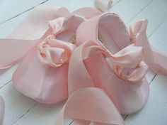 Pink Ballet Shoes Baby Girl Ballet Shoes FlatsFlower by BobkaBaby