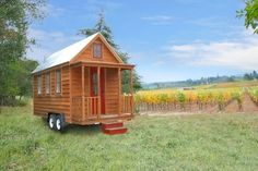 ↬ Tumbleweed Tiny House Company | And I thought my apartment was tiny. These little houses on wheels are so cute!