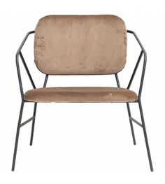 This beautiful chair in metal and brown velvet has been designed by House Doctor. We love its industrial-Scandinavian design. House Doctor, Brown House, Black House, Cosy Reading Corner, Muebles Art Deco, Metal Design, French Chairs, Stylish Home Decor, Outdoor Chairs