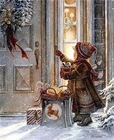 Generous Heart by Trisha Romance; Old Fashioned Christmas Christmas Night, Christmas Scenes, Noel Christmas, Victorian Christmas, Christmas Music, Vintage Christmas Cards, Christmas Pictures, Christmas Crafts, Christmas Decorations